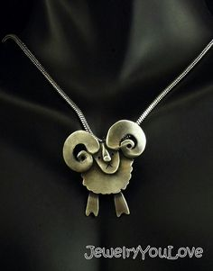 Sterling Silver Sheep ( Ram) Necklace  - Rocco