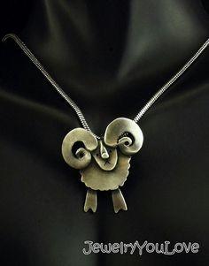 Sterling Silver Sheep ( Ram) Necklace  - Rocco by JYLbyPeekliu