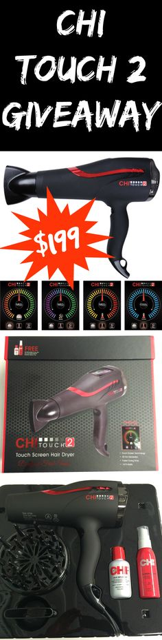 GIVEAWAY CHI Touch 2 Hair Dryer ($199 value) from @beautystat http://www.beautystat.com/site/hair/giveaway-chi-launches-the-touch-2-touch-screen-dryer (ends June 12) #bstat