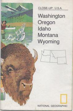 National Geographic Map Close  Up: USA Washington Oregon