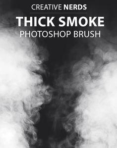 Amazing free thick smoke Photoshop brush set