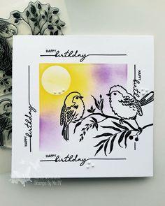Birthday Cards For Friends, Happy Birthday, Stamps, Birds, Ink, Happy Brithday, Seals, Urari La Multi Ani, Bird