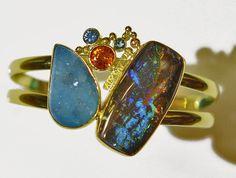 The Kalled Gallery — Boulder Opal (Koroit) Bracelet #opalsaustralia