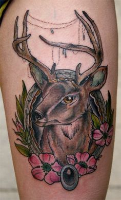 Traditional Deer Tattoo style