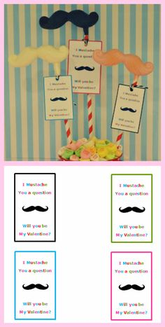 I mustache you a question...will you be my Valentine?    DIY chocolate mustache lollipops and FREE printable tags!