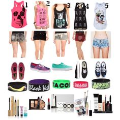 More outfit I dead for warped tour 2016 Tip: don't wear pants, skirts, or dresses to warped tour because in pants you'll just want to rip them off because of the heat. No skirts or dresses because you know how guys are and because someone might pants you. Bbq Outfits, Scene Outfits, Concert Outfits, Cute Fashion, Fashion Outfits, Cute Emo, Fashion Corner, Warped Tour, 2015 Trends