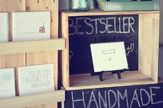 Great idea! To display items at a craft show use chalk board paint on the backs of the display cases.  Julie Ann Art: Craft Show Display Sneak Peek