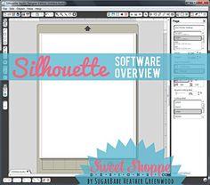 """getting started"" Silhouette software tutorial Silhouette Cameo Tutorials, Silhouette School, Silhouette Cutter, Silhouette Cameo Machine, Silhouette Vinyl, Silhouette Design, Silhouette Portrait Projects, Inkscape Tutorials, Cricut Tutorials"