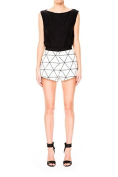 Cameo From Time Short in Monochrome Lattace size Small