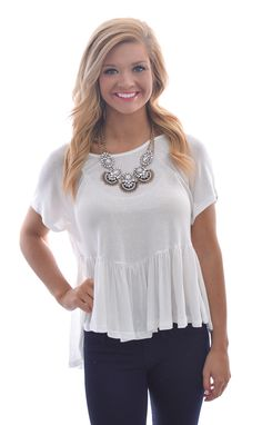 Frill for the Taking Top in Ivory shopbelleboutique.com