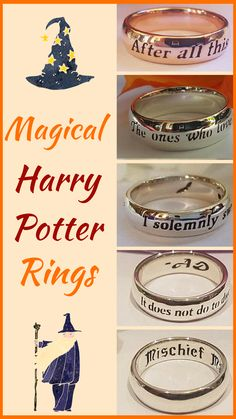 These Harry Potter Rings are so romantic and inspiring! I really wish I had the Dumbledore quote ring.   #ad #affilliate #etsygifts #etsyfinds #harrypotter #harrypotterfan #harrypotterforever #rings #romanticjewelry #jewelry #quotes #harrypotterquotes