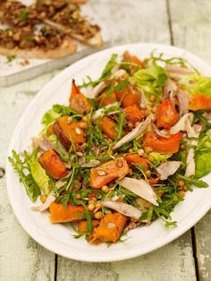 This is a great way of using up leftover roast chicken and stuffing.
