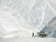 Nubra Valley Cold desert, Ladakh, India - High altitude desert with barren slopes stark landscapes and treeless terrains Yet it has no shortage of water.