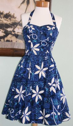 Vintage 1950s Alfred Shaheen Blue Hawaiian by TheBeeKeeperVintage, $299.00 SOLD