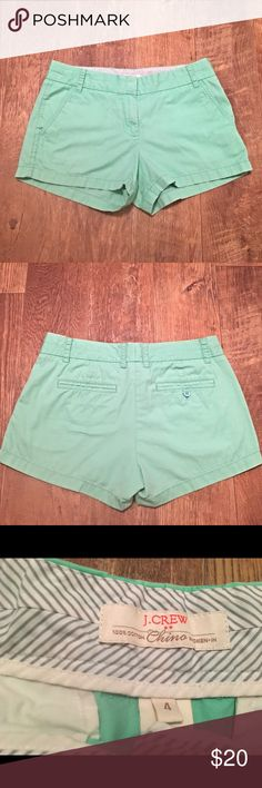 J. Crew Shorts - Sea Green Sea Green - J. Crew Chino Shorts.                    Please feel free to ask any questions needed regarding color. I don't want any of you ladies disappointed ✨💕 I strive to provide the best customer service. J. Crew Shorts
