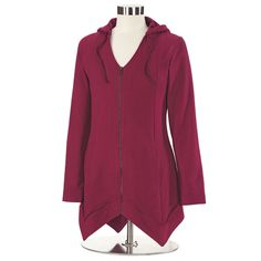 My absolute favorite hoodie from Northstyle. It has a generous hood too. I wear this a lot. The color is more wine red than fire engine.