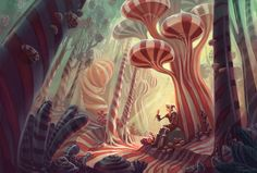 Mr. Mint's Forest, by Melissa Manwill (from BYU!)  Candy environment - peppermint vs licorice or something