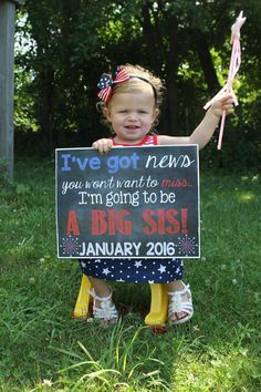 July 4th Pregnancy Reveal // Pregnancy Announcement // Big Sister // Fourth of July // 4th of July