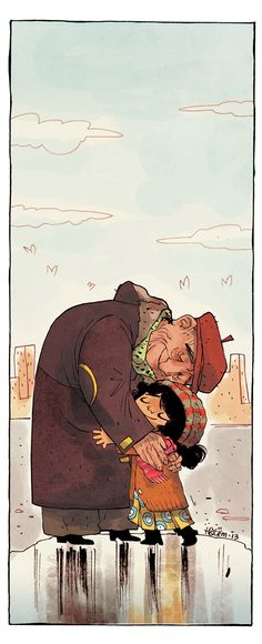 A day with Grandpa by Hatem Aly, via Behance