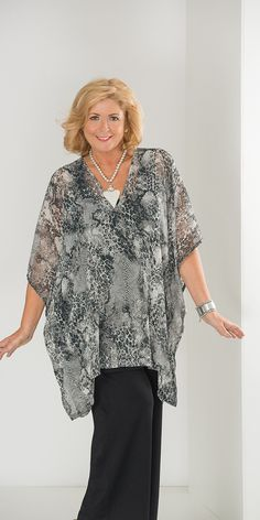 Kasbah grey/white voile snake square top