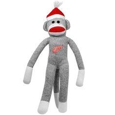 Detroit Red Wings 20 Team Sock Monkey
