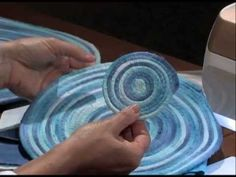 A detailed tutorial for fabric wrapped coils. A great technique for coasters, placemats, bowls and more! I love the look of the verigated ombre fabric! The possibilities are endless with thousands of fabrics to choose from at the Fabric Shack at http://www.fabricshack.com/cgi-bin/Store/store.cgi Repined: teritok