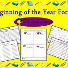 Need Beginning of the School Year Forms? Here they are! Parent contact log, reading logs, open house sign-in sheet, transportation chart, and student information cards!