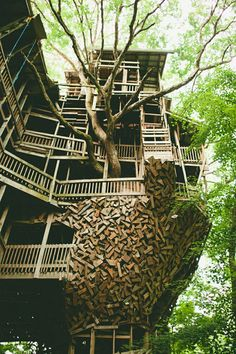 Worlds Largest Treehouse- Crossville, TN The website is in German but the video at the bottom is in English. Watch it, it's awesome!
