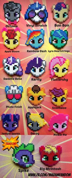 MY LITTLE PONY Hair Accessories, Twilight Sparkle, Rarity, Fluttershy, & More, 8bit