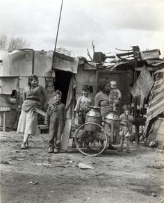 1930s Great Depression Family at Migrant Workers Camp Photo