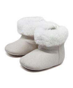 Natural & White Faux Fur Cuff Boot #zulily #zulilyfinds