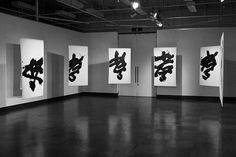 YU-ICHI (Inoue Yûichi) 1916 - 1985 Learn Calligraphy, Japanese Calligraphy, Calligraphy Handwriting, Arc Notebook, Silhouette Cameo Tutorials, Chalk Lettering, Action Painting, Backdrop Decorations, Caligraphy