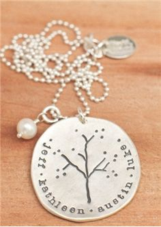 Sterling Silver Necklace.  Comes in pewter also and can be personalized.  Hmmmm?