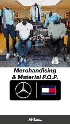 Fashion Displays, Mercedes Amg, Visual Merchandising, Tommy Hilfiger, Jackets, Product Display, Down Jackets, Jacket