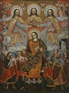 Virgen cuzqueña y Trinidad.