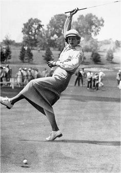 """""""Babe"""" Didrikson Zaharias (June 26, 1911 – September 27, 1956) Named 10th Greatest North American Athlete of 20th Century by ESPN, 9th Greatest Athlete of 20th Century by Associated Press, inducted into Hall of Fame of Women's Golf in 1951. She gained  fame in track and field and All-American status in basketball. She played organized baseball and softball, was an expert diver, roller-skater, and bowler. She won 2 gold medals and 1 silver for track and field in the 1932 Olympics."""
