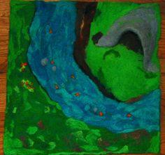 Large needle felted playmat by ohjuniper on Etsy, $148.00