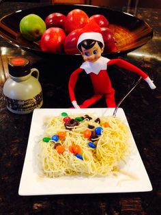 http://www.christinashomechildcare.com/ Our elf enjoyed a breakfast of champions today!