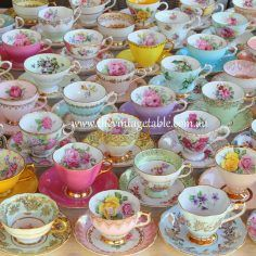 Vintage Traditional Luxury Fine Bone China Tea Cup Sets