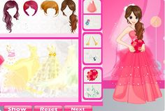 Christine is preparing for her wedding. She wants to have a wonderful and romantic one. Now, she is selecting her wedding dress. So many beautiful wedding dresses. Come and help her, glamorous wedding dress, pretty bouquet, stylish hairstyle and bridal veil. Wow, a glamorous bride is smiling! Use your mouse to play this game.  http://Mobogenie.com
