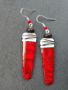 Polymer clay earrings by Vert Cerise.