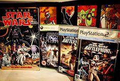 Name your 3 favorite Star Wars games 😃/// Nombra tus 3 juegos favoritos de #Starwars 😃  #vidadeungamer #xbox360 #xbox #comic #ps2 #sony #gaminglife #gameon #battlefront #battlefront2 #starwarsbattlefront #streetartbook #starwarscomics #classicstarwars #starwarstheforceunleashed #lucasarts #retro #retrocollective #retrocollectiveeurope #retrocollector #vintage #retrogaming #gamer #stavangerbibliotek #Yoda #stormstrooper #gráficas #streetart