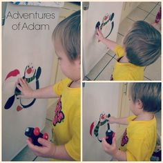 Magnetic penguin – Day 34 Toddler Play Challenge