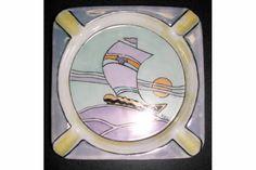 Ceramic Sailboat Ashtray