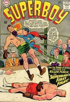 Superbaby - Boxer - Boxing - Vintage - Superboy - Curt Swan