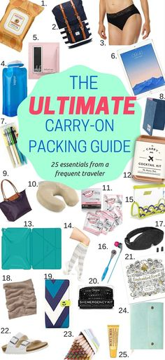 Learn the things you need to pack in your carry-on from a frequent traveler More