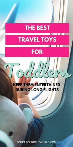 The best toddler plane activities and travel toys for flying with toddlers. Learn how to keep your toddler entertained while flying so you can avoid a disaster of a flight! Fun travel toys for toddlers and preschool kids. Plane toys for toddlers and kids.