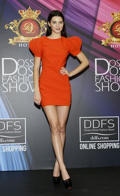 Kendall Jenner presenting at the Dosso Dossi Fashion Show press conference in Turkey. See all of the model's best looks.
