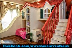 What a cool kids room!