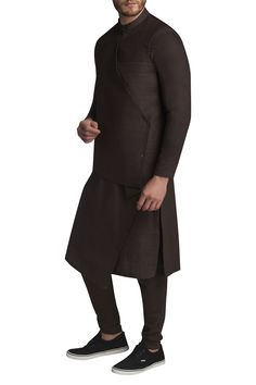 Shop Suta & Co - Men Kurta set with pintuck jacket , Exclusive Indian Designer Latest Collections Available at Aza Fashions Gents Kurta Design, Boys Kurta Design, Mens Indian Wear, Mens Ethnic Wear, Mens Traditional Wear, African Dresses Men, Kurta With Pants, Nehru Jackets, Men Closet